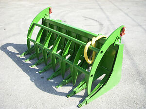 John Deere Compact Tractor Attachment 72 Root Rake Clam Grapple Ship 199