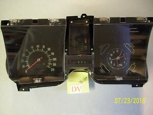 1968 68 Chevelle Instrument Panel Cluster With Tachometer gauges And Clock nice