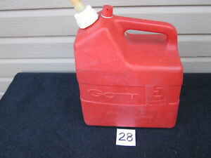 Rare Vintage Gott 5 Gallon Red Vented Plastic Gas Can Model 1250