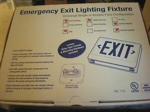 Led Exit Signs W Emergency Battery Backup Lighting Fixture Remote Capable