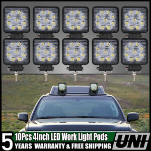 10pcs 4 5 Inch Round Led Combine Light Kit Fit For Case Ih Spot Beam Lamp