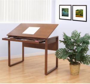 Drafting Table With Drawer Useful Rectangle Studio Designs Ponderosa Solid Wood