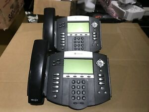 Lot Of 2 Polycom Ip 550 Soundpoint Sip Telephone 2201 12550 001