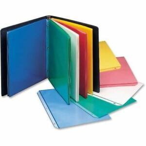 C line Colored Polypropylene Sheet Protector Assorted Colors 11 X 8 1 2 50 bx