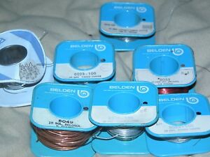 Lot Of Belden Alpha Magnet Solder Tin Insulated Copper Core Wire Spools Etc