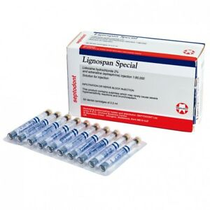 3 X Septodont Lignospan Special 1 80000 With 2 Dental Cart Free Shipping
