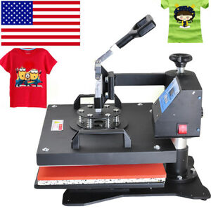 Swing Away Heat Press Machine Transfer Sublimation T shirt Cup Hat Bag