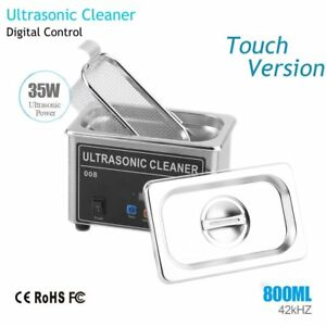 800ml Stainless Steel Ultrasonic Cleaner Sonic Cleaning 35w Washer Machine Vp