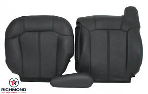 1999 2002 Chevy Silverado Lt Hd driver Side Complete Leather Seat Covers Dk Gray