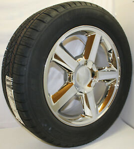 Chevy Tahoe 20 Chrome Ltz Style Wheels Rims Tires Silverado Z71 Suburban