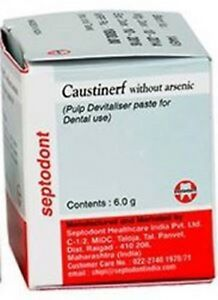 5 X Caustinerf Without Arsenic Pulp Devitaliser By Septodont Free Shipping