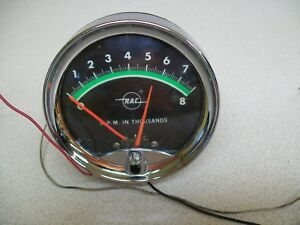 Vintage Rac Tachometer 3 3 4 Old School Not Working For Parts Only