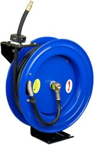 Pro Pneumatic 50 Ft X 1 2 In Retractable Air Hose Reel Workshop Wall Mount