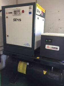 Curtis Se15 Air Compressor With Curtis Air Dryer And Filter