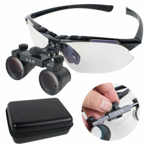 Upgraded Dental Loupes 2 5x R 360 580mm Surgical Medical Binocular Case usa