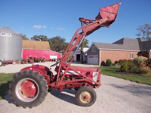 International 350 Utility Tractor Ih Hyd Loader Wide Frontend Fast Hitch 2pt Ta