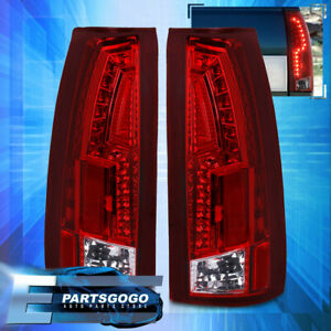 Red Lens Led Tail Lights For 88 98 Chevy Gmc Ck C10 1500 2500 Silverado Sierra