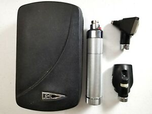 Welch Allyn 3 5v Diagnostic Set Otoscope Ophthalmoscope Case New Battery