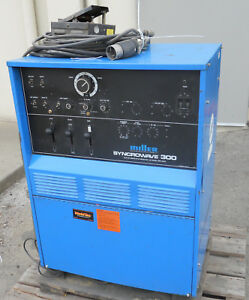 Miller Syncrowave 300 Ac dc Welding Power Source With Rfcs 23 Pedal