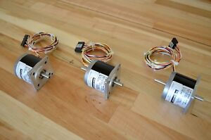 New 3 Kollmorgen Pac sci H21nsfa Nema23 Dual shaft Stepper Stepping Motor cnc