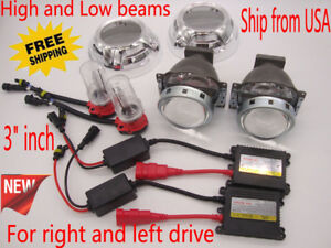 Universal 3 Inch Bi xenon Hid Projector Lens Headlight Xenon Kit High Low Beam