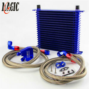19 Row Trust Oil Cooler W Male Filter Adapter Kit For Chevrolet Gm Ls1 Ls2 Lsx