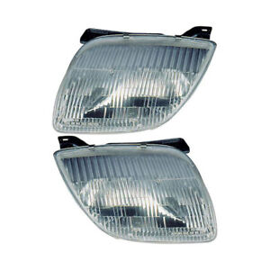 Pair New Top Quality Left Right Headlight Assembly For Pontiac Sunfire