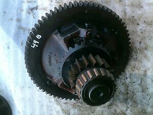 1949 John Deere B Tractor Jd Main Transmission Ring Pinion Differential Gear