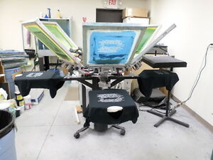 Printa 770 Series Deluxe 6 Color Screen Printing Press easy To Use