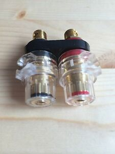Bulk Audiophile Speaker Binding Post Female Socket Terminal Gold Plated aec