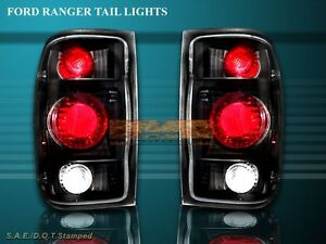 1998 2000 Ford Ranger Tail Lights Jdm Black 98 99 00 00 Lamps