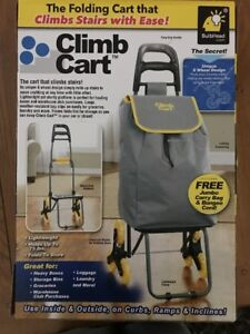 Climb Cart By Bulbhead The Folding Cart That Climbs Stairs With Ease With Bag