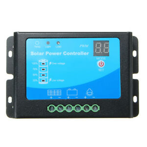 12v 24v 10a Waterproof Pwm Solar Charge Controller Auto Switch Panel Ce