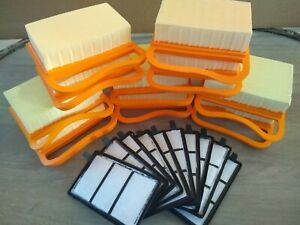 10 X Stihl Ts410 Ts420 Ts 420 Air Filter Sets