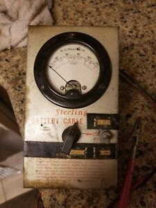 Vintage Analog Multimeter Rare Sterling Battery Cable Voltage And Resistence
