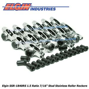 Stainless Steel Roller Rocker Arms 1 5 Ratio 7 16 Studs Chevy 400 350 327 305
