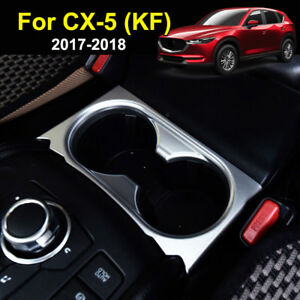 For Mazda Cx 5 Cx5 2017 2018 Chrome Cup Drink Holder Cover Trim Center Console