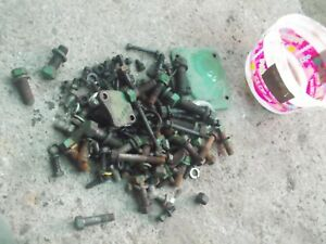 Oliver 66 Tractor Box Of Bolts Nuts Washers Pieces Parts Cover Plate