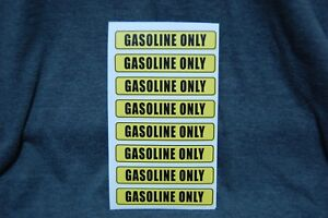 8 Gasoline Only Decals Sticker Car Truck Gas Cans Fuel Door Label Free Ship