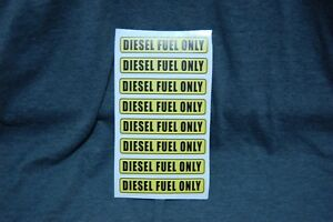 8 Diesel Fuel Only Decal Sticker Car Truck Gas Cans Fuel Door Label Free Ship