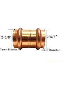 Libra Supply Lead Free 2 1 2 Inch 2 1 2 Copper Press Coupling With Stop