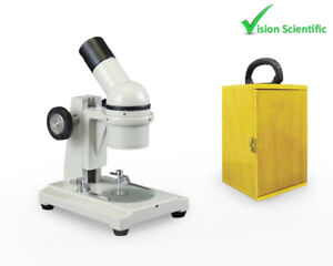 Vision Scientific Vme0002 Field Trip Microscope With Wooden Carrying Case