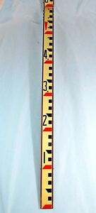 Vintage us Military Dietzgen 6563 Survey Stick Measuring Grade Leveling Rod