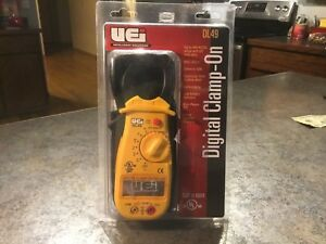 Uei Dl49 Digital Clamp on Amp Multimeter Hvac Model Dl49 Case And Leads New