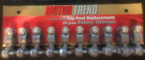 Motor Trend Heavy Duty Top Post Replacement 110gram Battery Terminals 10 Pack