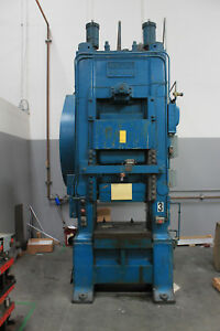 400 Ton Minster Knuckle Joint Straight Side Punch Press Mdl 90 400 5 stroke