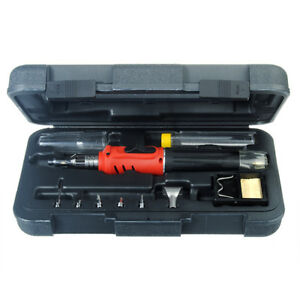 Hs 1115k 10 in 1 Gas Soldering Iron Cordless Welding Torch Kit Tool