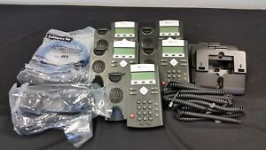 Polycom Lot Of 5 2201 12375 025 Ip 335 Sip Voip Business Phone W Handset