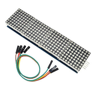 Magideal 5 Set Max7219 Serial Dot Matrix Display Module 8x8 4 In 1 For Led