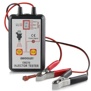 Em276 Fuel Injector Tester 4 Pluse Modes Powerful System Scanner Tool Analyzer